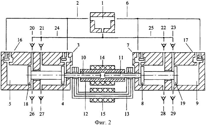 Замыкатель магнитного потока якорей и статорного магнита линейного электрогенератора с оппозитным движением якорей