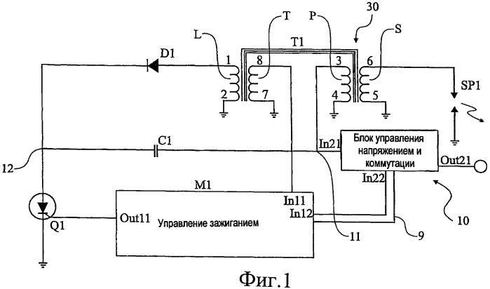 Система генерации энергии в системе зажигания емкостным разрядом