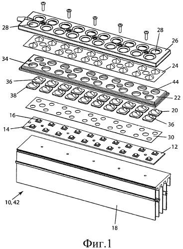 Компоновка для герметизации и термической аккомодации в led-устройствах
