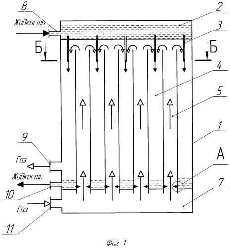 Тепломассообменный аппарат с комбинированной схемой взаимодействия потоков газа и жидкости