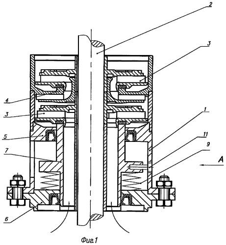 Устройство для определения осевой силы, действующей на рабочее колесо ступени погружного лопастного насоса