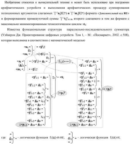 """Функциональная вторая входная структура условно разряда """"j"""" сумматора fcd( )ru с максимально минимизированным технологическим циклом  t  для аргументов слагаемых ±[1,2nj]f(2n) и ±[1,2mj]f(2n) формата """"дополнительный код ru"""" с формированием промежуточной суммы ±[1,2sj]1 d1/dn второго слагаемого в том же формате (варианты русской логики)"""
