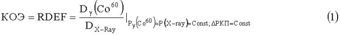 Способ определения коэффициента относительной эффективности и эквивалентной дозы источника рентгеновского излучения