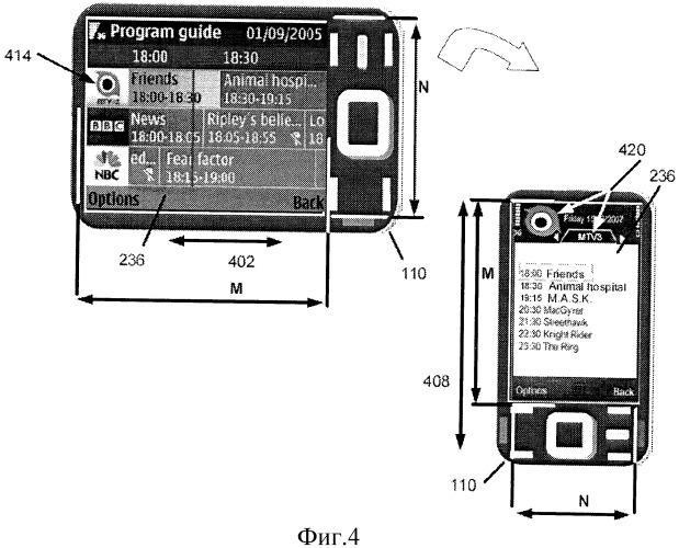 Представление информации на основе ориентации экрана дисплея