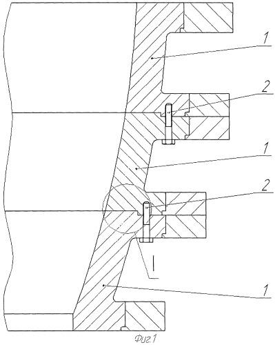 Секционная крупногабаритная матрица для калибровки взрывом