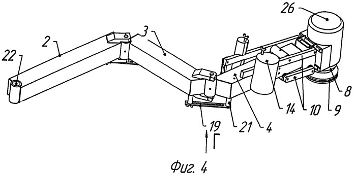 Манипулятор станка для снятия кромок или фацета плоских стеклянных изделий