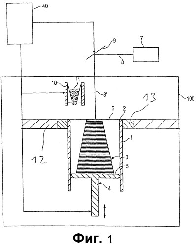 Устройство для генеративного создания трехмерного объекта с изолированной областью построения