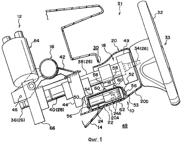 Установочная конструкция устройства с подушкой безопасности для защиты коленей и приводного электродвигателя рулевого механизма с электрическим усилителем