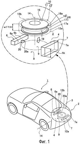 Конструкция для установки запасной шины