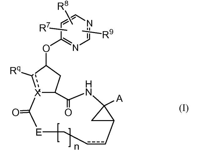 Пиримидин-замещенные макроциклические ингибиторы hcv