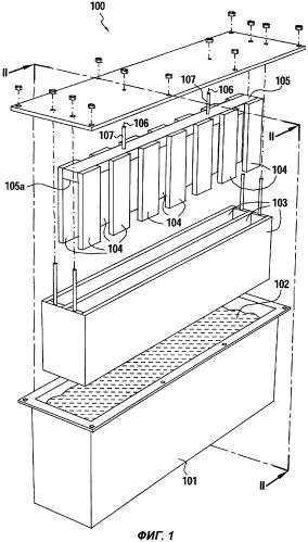 Устройство для поддерживания электродов и установка для электролиза, снабженная этим устройством