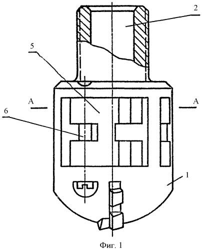 Коронка для бурения скважин в выбросоопасных пластах (варианты)