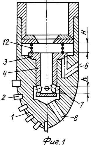 Коронка для бурения скважин в высокогазоносных пластах