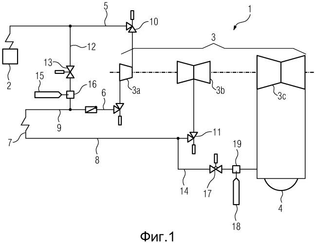Паросиловая установка для генерирования электрической энергии