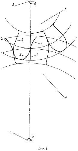 Цилиндрическая прямозубая передача с полуэвольвентными профилями зубьев
