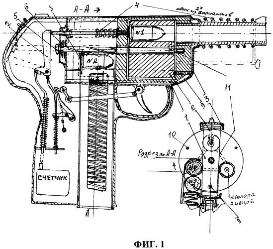 Устройство пистолета револьверного беспрерывного (п.р.б.)