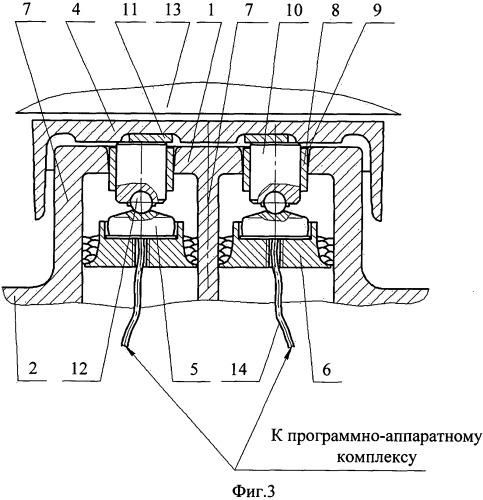 Устройство для измерения вертикальной нагрузки от кузова на тележку железнодорожного подвижного транспортного средства