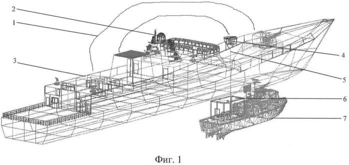 Способ измерения параметров физических полей верхней полусферы морского объекта