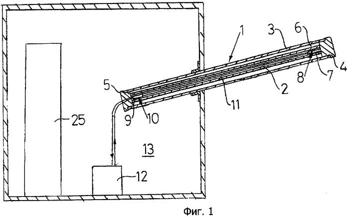 Высоковольтный ввод, способ охлаждения провода ввода и система распределения электрической энергии, содержащая такой ввод