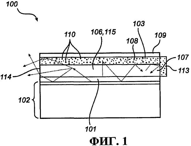 Устройство для бокового излучения с гибридным верхним отражателем