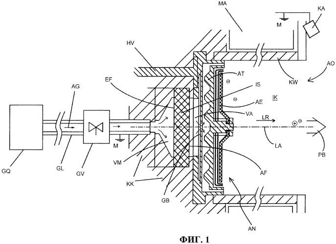 Система высоковольтного изолятора и система ионного ускорителя с такой системой высоковольтного изолятора