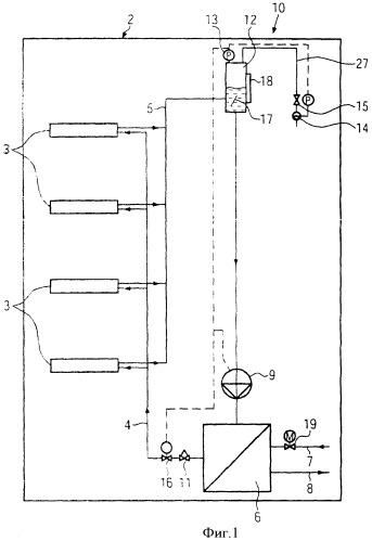 Способ и устройство для охлаждения электрических и электронных конструктивных элементов и модульных блоков, встроенных в приборных шкафах