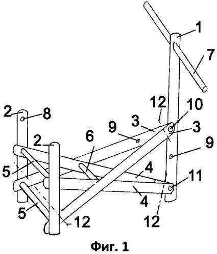 Способ сборки складного переносного комплекса мебели