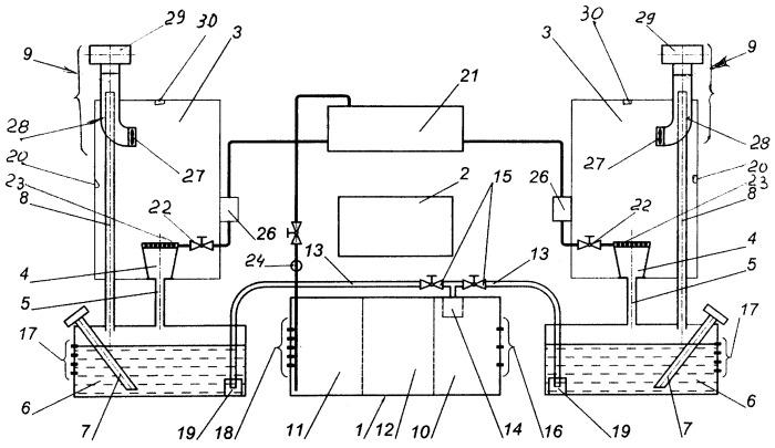 Система санитарно-гигиенического оборудования транспортного средства