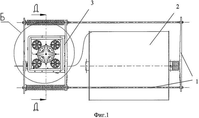 Устройство выпуска троса связки двух космических аппаратов (варианты)