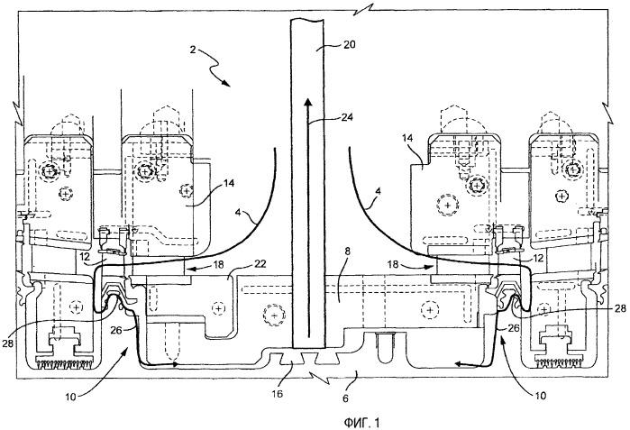 Устройство и способ охлаждения первой ступени двухпоточной турбины