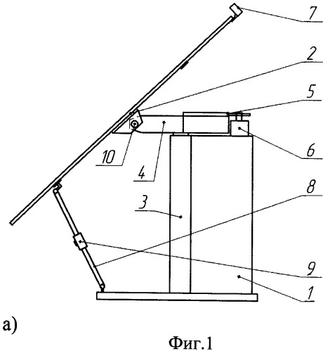 Установка автоматического слежения приемной панели за солнцем