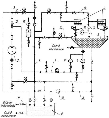 Водооборотная система тепловыделяющего объекта