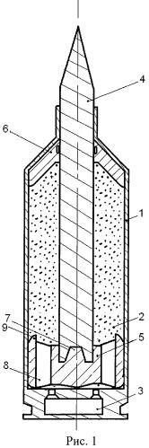 Патрон для стрелковых и артиллерийских гладкоствольных систем