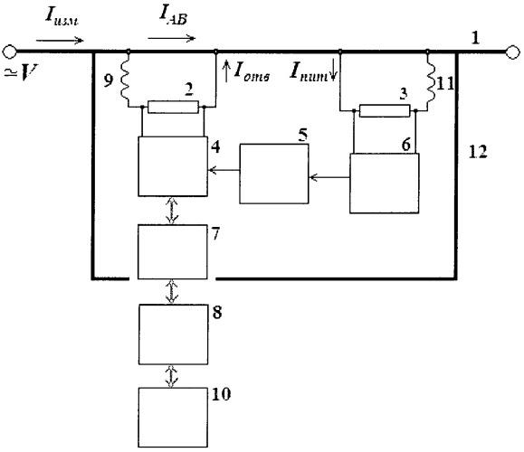 Устройство для измерения тока в высоковольтной цепи с дистанционной передачей информации