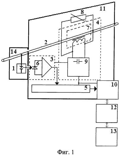 Устройство для измерения напряжения в высоковольтной цепи с дистанционной передачей информации