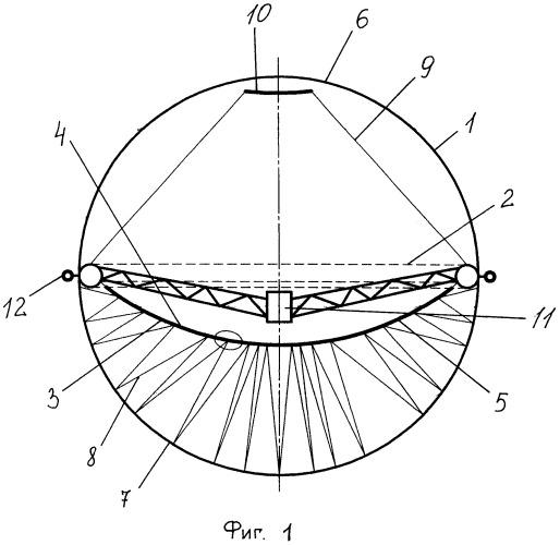 Концентратор солнечного излучения (варианты)