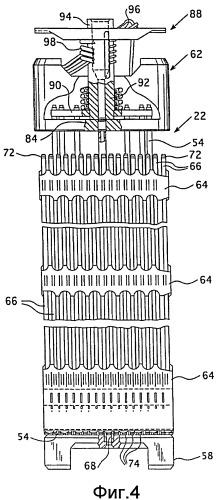 Удерживающий узел для компонентов активной зоны ядерного реактора