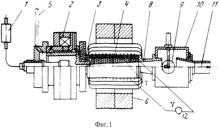 Аэродинамический стенд для проведения фундаментальных исследований по генерации электроэнергии мгд-методами с использованием в качестве рабочего газа высокотемпературного водорода (h2)