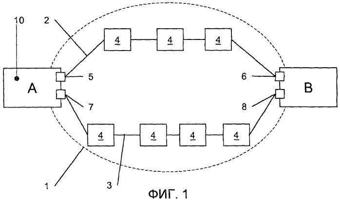 Сети, имеющие многочисленные тракты между узлами, и узлы для такой сети