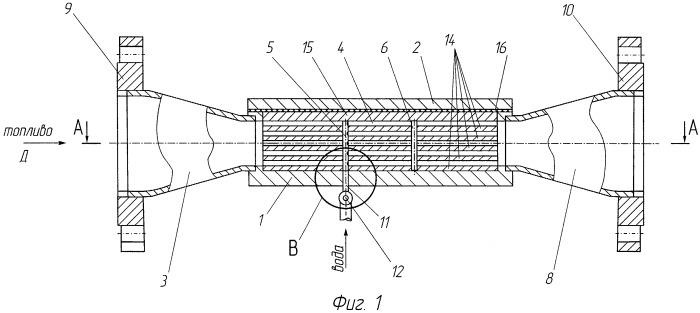 Гидродинамический способ приготовления водотопливной эмульсии и гидродинамический кавитационный реактор
