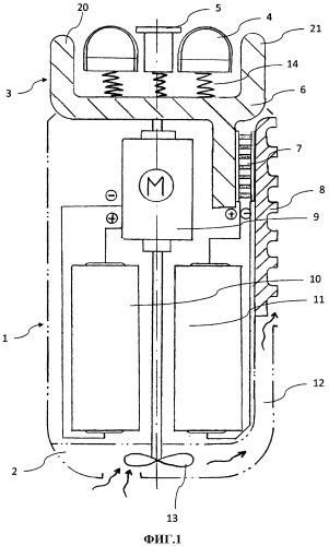Электрическая бритва со встроенной системой охлаждения