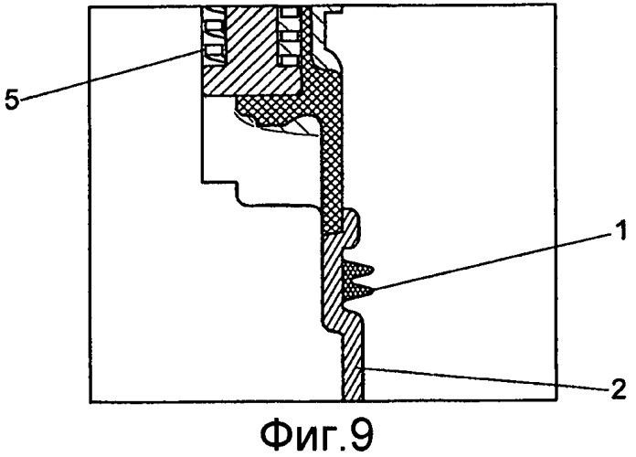 Способ для ввода уплотнения вставного соединительного элемента