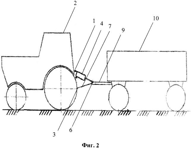 Автоматический корректор сцепного веса для увеличения проходимости и повышения производительности колесных тракторов при их агрегатировании с прицепами