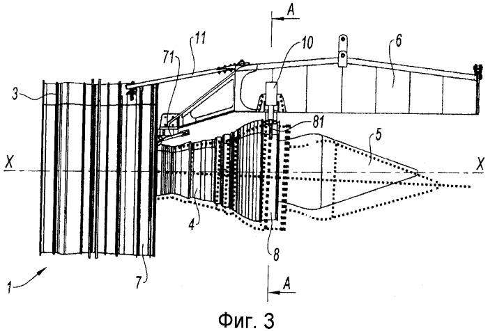 Крепление многоконтурного турбореактивного двигателя к летательному аппарату