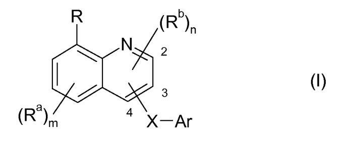 Соединения хинолина, пригодные для лечения нарушений, являющихся ответом на модуляцию рецептора 5-ht6 серотонина