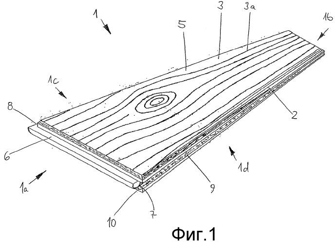 Панель пола с несущим слоем из полимерного материала