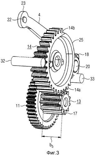 Приводное устройство для выставного элемента автомобиля