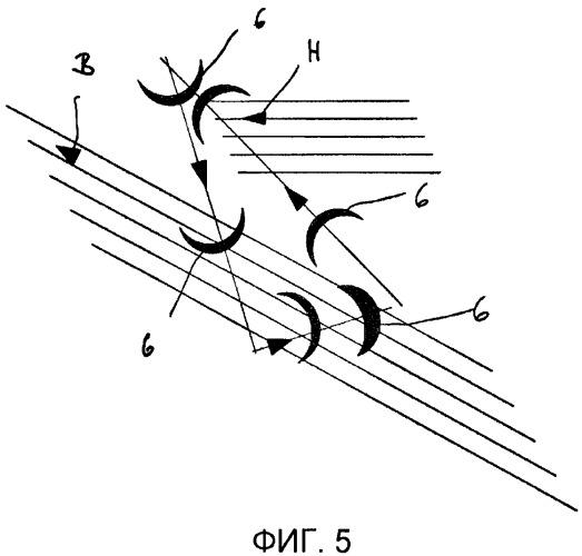 Способ и система для преобразования содержащейся в горизонтальных потоках энергии движения в полезную механическую энергию