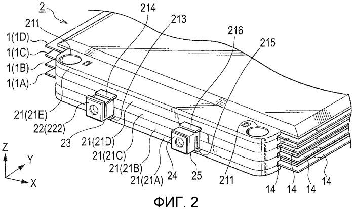 Многослойная аккумуляторная батарея и способ ее изготовления