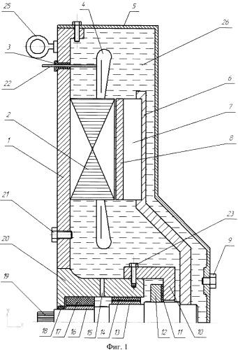 Погружной водонаполненный синхронный генератор вертикального исполнения
